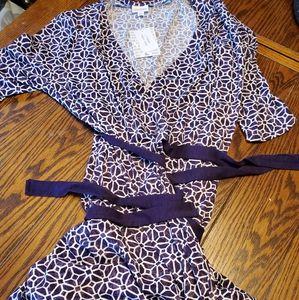NWT lularoe purple  Michelle wrap dress  large